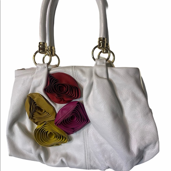 Antonio Melani White slouch bag with floral detail